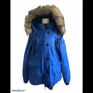 Noize parka jacket coat size 2x blue